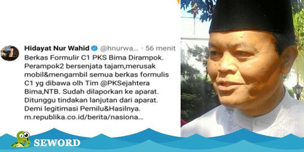 Setelah Ketahuan Nyebar Hoax, Twit Hidayat Nur Wahid Tiba-Tiba Hilang Entah Kemana