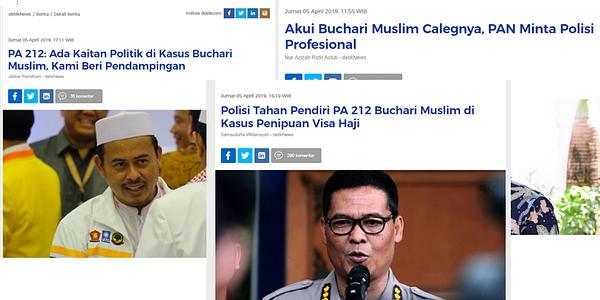 Ust Buchari Muslim Pendiri PA 212 Sekaligus Caleg PAN Dicyduk Karena Menipu