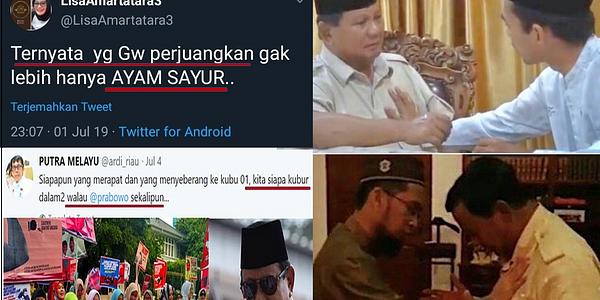 Emak Pepes Ngatain Prabowo Ayam Sayur, Sakitnya Di Sini,  Untung Sudah Didoakan