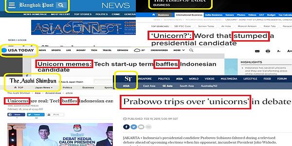 Blunder Unicorn Prabowo Mendunia, Dari Asia, Timur Tengah Hingga Amerika, Sampai Hawaii! Wkwkwk!