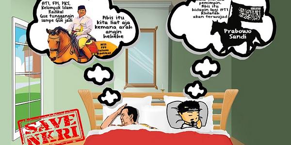 Prabowo dan Khilafah Saling Tikam