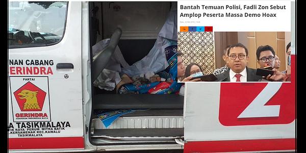 Ada Amplop Dan Ambulans Gerindra Angkut Batu, Fadli Zon Membantahnya, Ngibul!