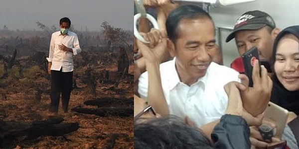 Peristiwa Aneh Pasca Jokowi Banggakan Penanganan Kebakaran Hutan dan Naik KRL
