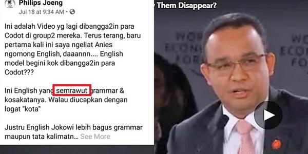 "Ketika Bahasa Inggris Anies Disebut ""Semrawut""! Wkwkwk…, Ini Video/Faktanya!"