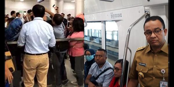 Warga Biasa Rasa Gubernur Dielukan Di MRT, Gubernur Asli  Dicuekin