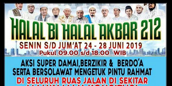 Halal bi Halal 212 di MK adalah Tindakan Manipulatif