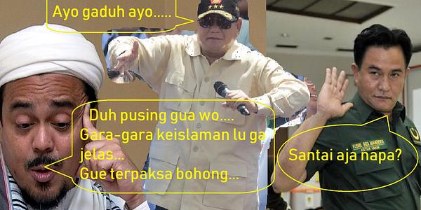 Gara-Gara Prabowo, Yusril Dengan Rizieq Shihab Gaduh