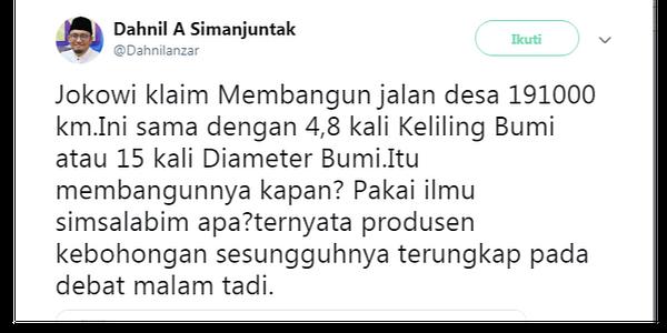 Dahnil Anzar Membodohi Indonesia Soal Logika Panjang Jalan, Prabowo Didukung Orang yang tidak Berpikir Sehat